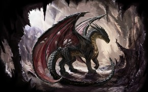 Картинка Fantasy, Dragon, Art, Wallpaper