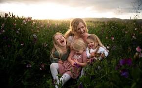 Картинка лето, природа, семья