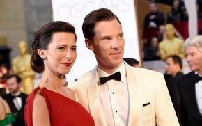 Картинка актриса, Великобритания, певица, актёр, Бенедикт Камбербэтч, Benedict Cumberbatch, драматург, супруги, Софи Хантер, театральный режиссёр