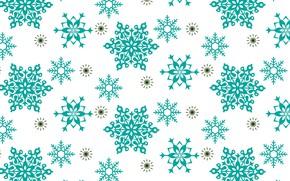 Картинка снежинки, фон, новый год, текстуры