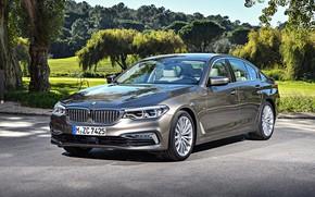 Картинка авто, парк, BMW, Luxury Line, Worldwide, Seda