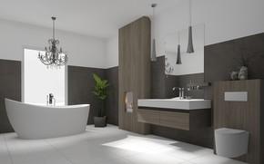 Картинка дизайн, интерьер, модерн, ванная комната