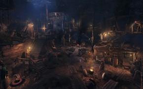 Картинка ночь, люди, Metro Exodus, Метро Исход, Gamescom 2018