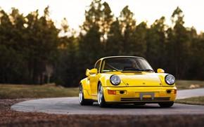 Картинка Авто, Желтый, 911, Porsche, Машина, Porsche 911, Carrera, RSR, 1993, Передок, Porsche 911 Carrera, 911 …
