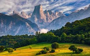 Картинка Испания, Астурия, Пикус-де-Европа, гора Наранхо де Бульнес