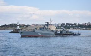 Картинка корабль, противолодочный, малый, проект 1124-М, шифр Альбатрос