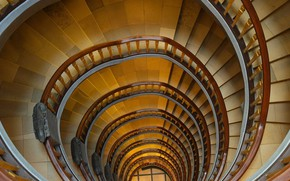Картинка Германия, Гамбург, винтовая лестница, Чилехаус