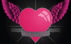 Картинка любовь, сердце, крылья, День святого Валентина, Valentine's Day