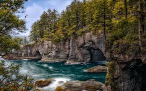 Картинка море, скалы, побережье, залив