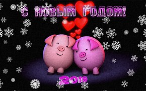 Картинка снежинки, праздник, рисунок, текстура, Новый год, холст, новогодняя открытка, свинки, акриловые краски, 2019 год, Год …