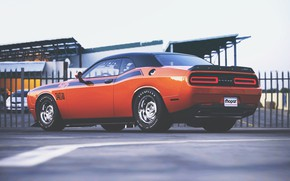 Картинка Авто, Машина, Оранжевый, Dodge, Challenger, Dodge Challenger, Muscle car, Рендеринг, Transport & Vehicles, by Timothy …