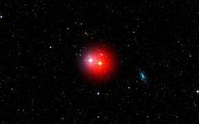 Картинка Stars, Galaxies, Spiral Galaxy, Wide Field View, Digitized Sky Survey 2, π1 Gruis - Red, …