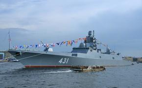 Картинка корабль, фрегат, сторожевой, Адмирал Касатонов