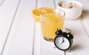 Обои стакан, wood, фреш, апельсиновый сок