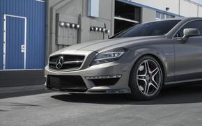Картинка CLS, Mercedes, BiTurbo, Silver, W218, 63AMG