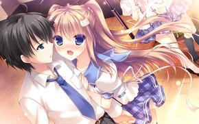 Картинка мальчик, арт, девочка, двое, Nyan Cafe Macchiato
