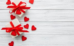 Картинка лента, подарки, сердечки, Праздник, Olena Rudo