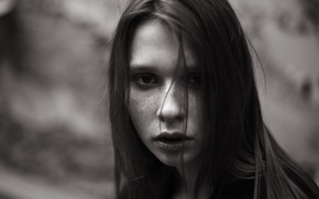 Картинка веснушки, монохром, Вероника Веселова