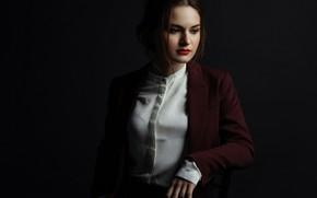 Картинка блузка, шатенка, пиджак, Кристина, Mishin Dmitry