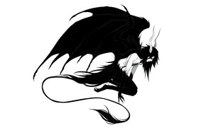 Картинка крылья, демон, хвост, рога, Bleach, Блич, аранкар, Улькиорра Шиффер