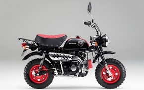 Обои мопед, honda, monkey, kumamon, z50, мокик