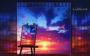 Картинка море, закат, картина, by Lifeline