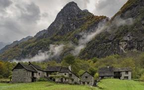 Картинка горы, Швейцария, домики