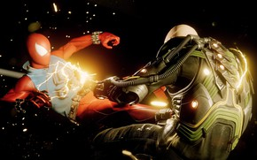 Картинка молния, драка, Spider-Man, Человек - паук, Spider-Man (PS4)