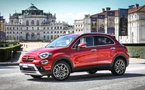 Картинка красный, Fiat, Cross, 500X