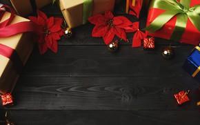 Картинка украшения, Новый Год, Рождество, подарки, Christmas, wood, New Year, decoration, xmas, gift box, Merry