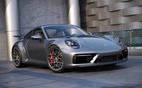 Картинка Авто, 911, Porsche, Машина, Серый, Car, Auto, Render, Porsche 911, Рендеринг, Transport & Vehicles, by …