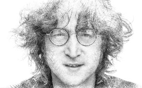 Обои портрет, очки, музыкант, Джон Леннон, Биттлз