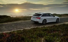 Картинка белый, Audi, гибрид, универсал, AWD, Audi A6, 2020, A6, A6 Avant, 55 TFSI e quattro