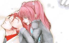 Картинка романтика, пара, Umineko no Naku Koro ni, Когда плачут чайки