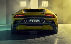 Картинка Lamborghini, вид сзади, Huracan, 2020, RWD, Huracan Evo