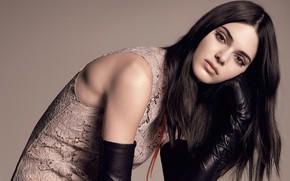 Картинка взгляд, девушка, лицо, фото, модель, волосы, перчатки, красивая, Kendall Jenner