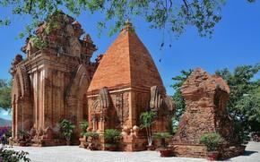 Картинка архитектура, путешествие, вьетнам, башни по Нагар, нячанг