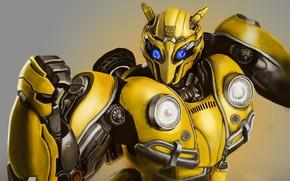 Картинка трансформеры, робот, Transformers, Бамблби, Bumblebee