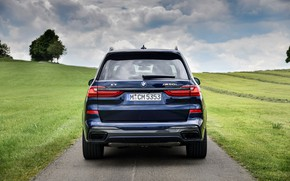 Картинка BMW, вид сзади, кроссовер, SUV, 2020, BMW X7, M50i, X7, G07