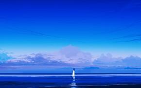 Картинка море, природа, девочка