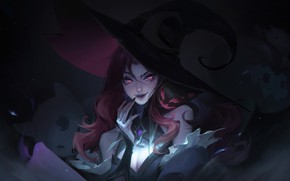 Картинка девушка, тьма, шляпа, League Of Legends, Miss Fortune