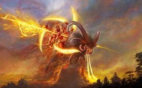 Картинка Lord Agni, индийский бог огня, Mukesh Singh, Messenger of Gods