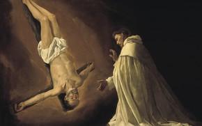 Картинка 1629, Francisco de Zurbaran, Явление апостола Петра святому Петру Ноласко