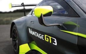 Картинка Aston Martin, Vantage, гоночное авто, вид сбоку, GT3, 2018