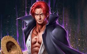 Картинка пират, парень, One Piece, шрамы