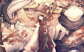 Картинка шляпа, девочка, змей, Touhou, Suwako Moriya, Тохо, Тоухоу