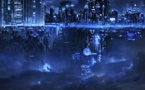 Картинка ночь, город, фея