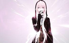 Картинка девушка, микрофон, певица, Vocaloid