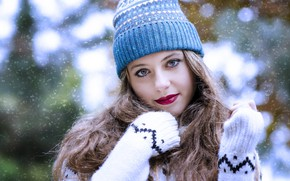 Картинка взгляд, волосы, шапочка, Alejandra