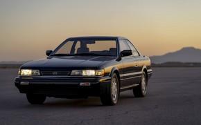 Картинка купе, Infiniti, перед, 1990, двухдверное, Nissan Leopard, M30
